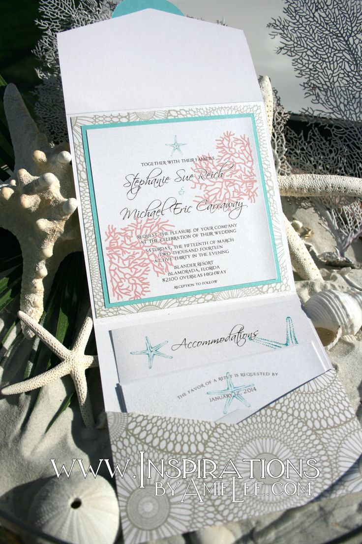 80 Best Beach Wedding Invitation Images On Pinterest Beach