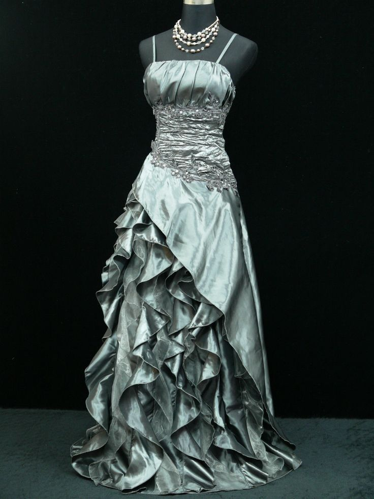 cherlone grau hochzeit ballkleid brautkleid abendkleid