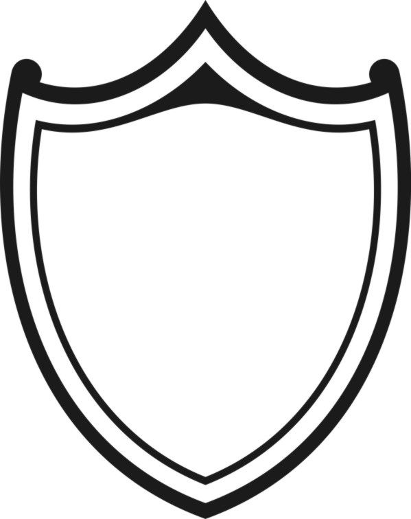 black and white shield drawings - Google Search | soccer logo ...