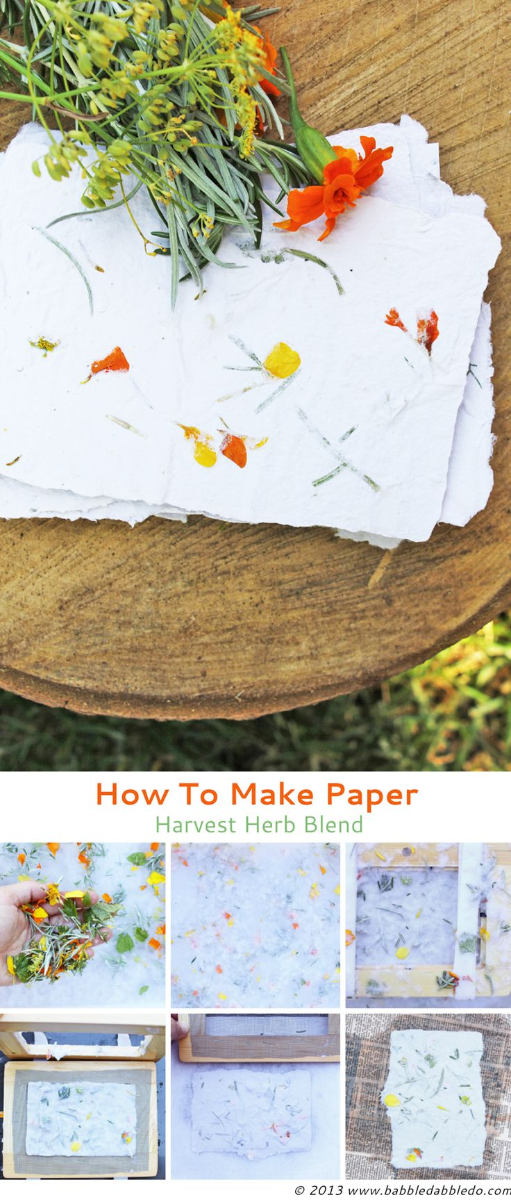 Learn how to make paper with this step-by-step tutorial. *Great combinations here; fun for kiddos, too!