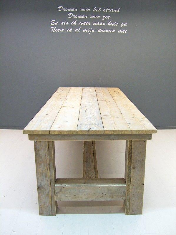 Kloostertafel van steigerhout (oud steigerhout) (252013KLTO)