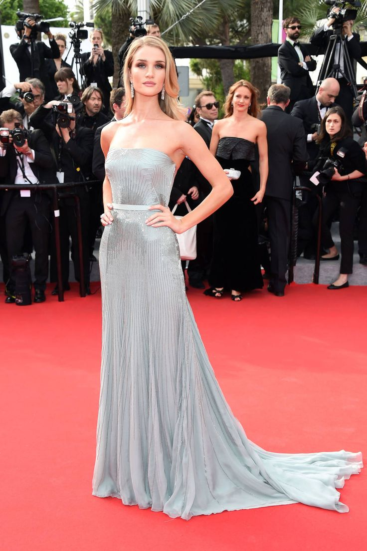 Rosie Huntington-Whiteley in Gucci - Red Carpet Dresses at Cannes 2014 - Harper's BAZAAR