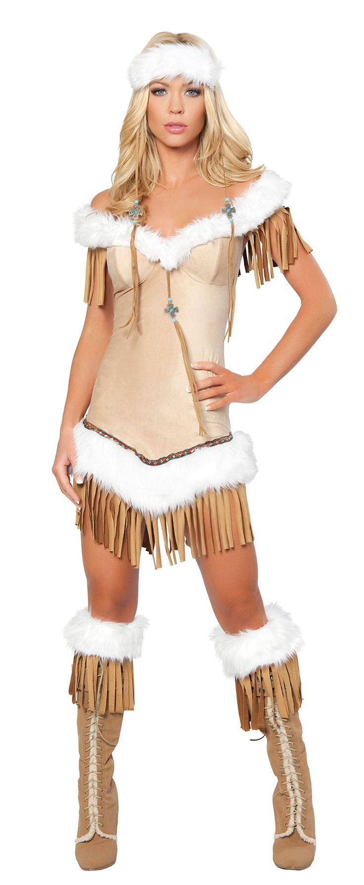 Indian Costumes  Sexy Indian Snow Princess Costume -7702