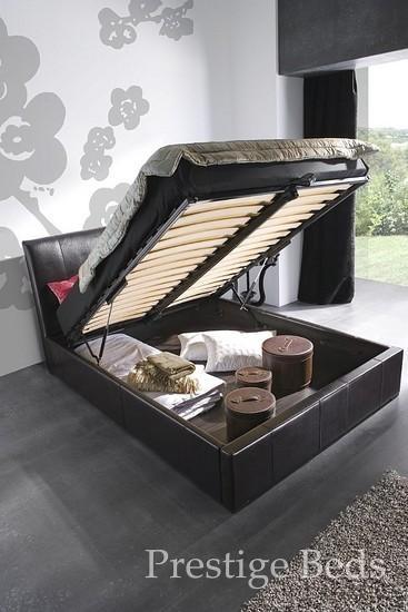 Visage leather bed