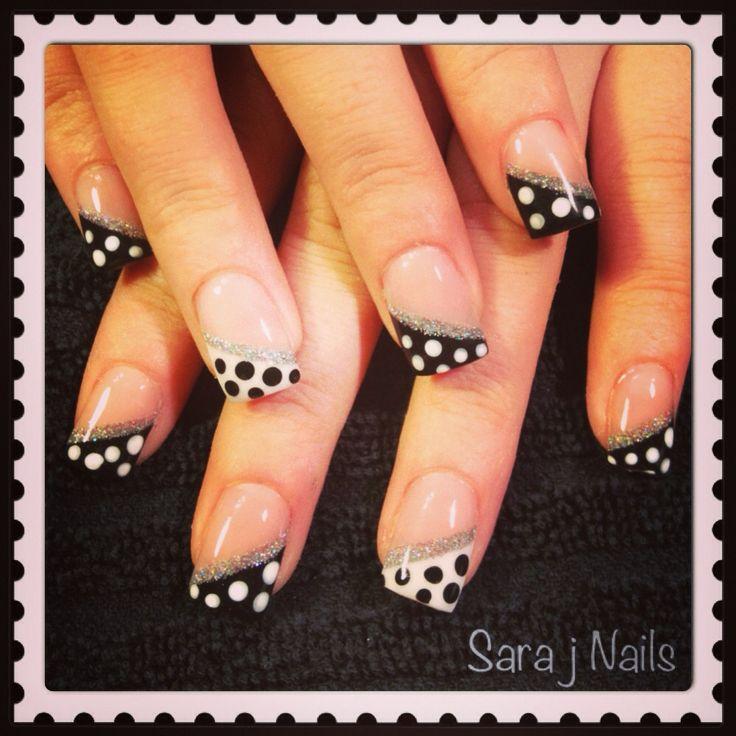Acrylic Nail Design Polka Dots