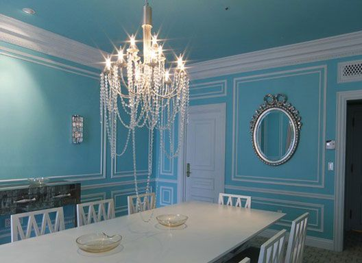 Audrey and I could have breakfast in this Tiffany's diningroom.