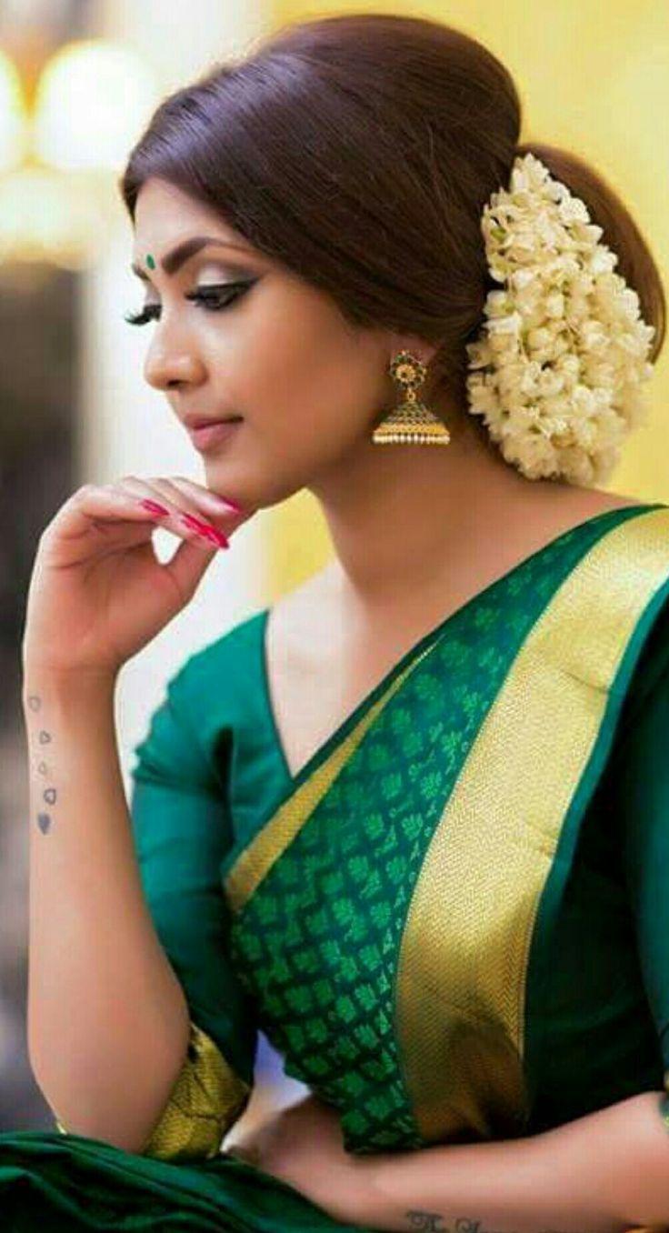 simple kondai hairstyles   dress in 2019   saree hairstyles