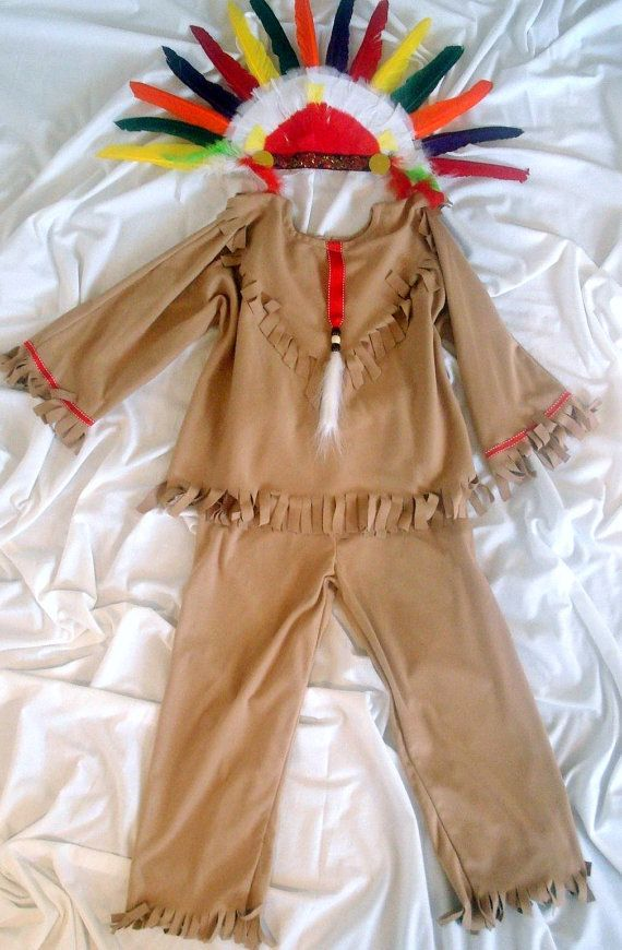Native American Indian costume kid size 1011 for by MainstreetX