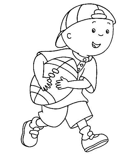 Caillou Coloring Pages....have coloring station for kids