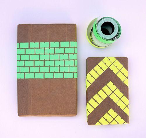 DIY - Neon tag Giftwrap