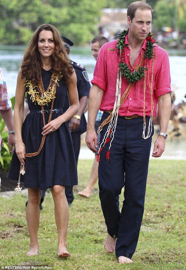 Catherine, Duchess of Cambridge and Prince William, Duke of Cambridge visit Tuvanipupu Island on their Diamond Jubilee tour of the Far East on September 17, 2012 in Honiara, Guadalcanal Island. During their visit, they rode a traditional canoe.