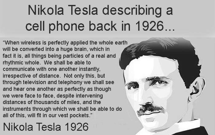 Nikola Tesla predicted smartphones 89 years ago