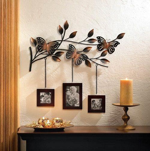 Wanddekoration mit Schmetterlingsrahmen