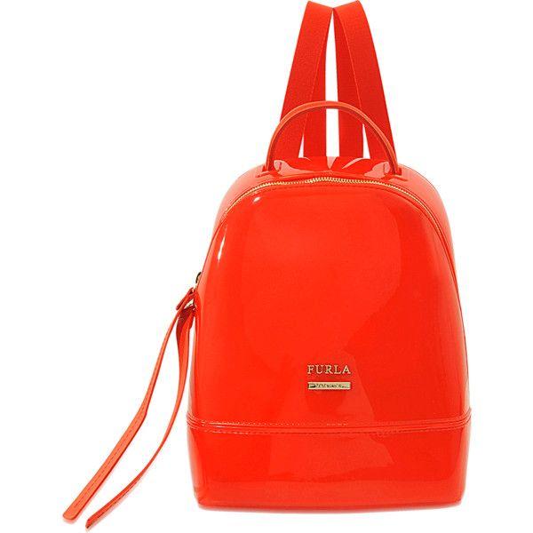 Furla Candy Mini backpack ($160) ❤ liked on Polyvore featuring bags, backpacks, orange, backpack bags, miniature backpack, knapsack bag, day pack backpack and mini rucksack