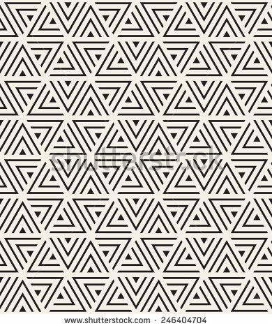 Vector seamless pattern. Modern stylish texture. Repeating geometric tiles from striped triangles