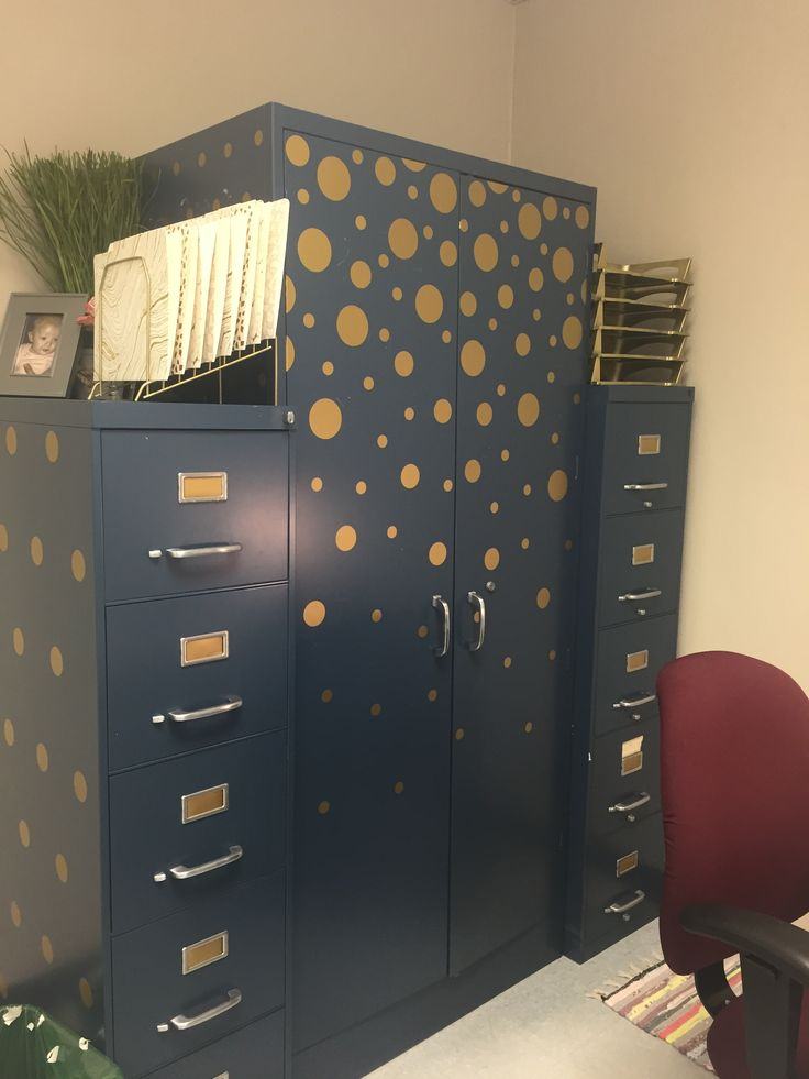 My very own tricked out file cabinets! #classroom #highschool #decor