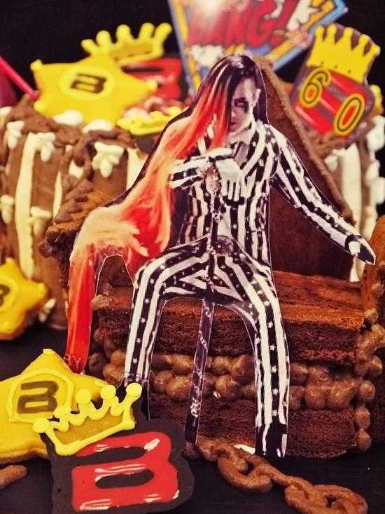 オーダーケーキ(オーダー内容:BIG BANG、G-DRAGON、還暦のお祝い、マーク) : 丹羽萌子 公式ブログ