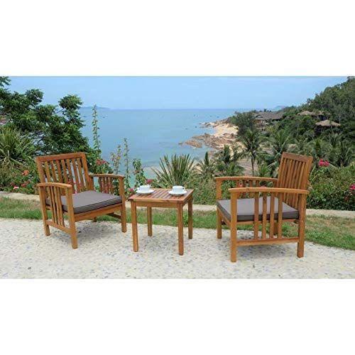 Générique Salon de Jardin 2 Places - 1 Table et 2 fauteuils ...