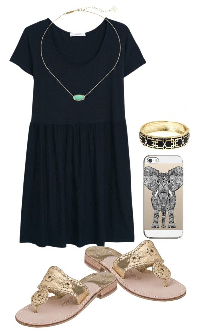 """""""This is rlly bad"""" by preppygirl13 ❤ liked on Polyvore featuring MANGO, Jack Rogers, Fornash, Kendra Scott and Casetify"""