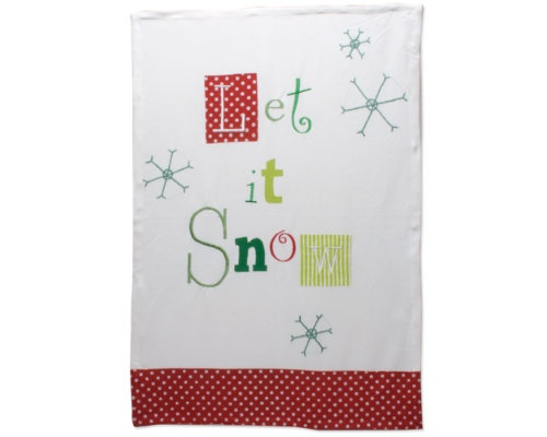 Christmas+Let+It+Snow+Vintage+Dishtowel