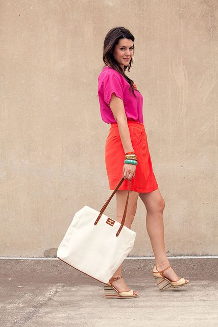 Coral and Hot Pink = <3