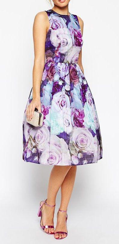 Floral Soft Prom Dress