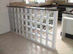Parede de bloco de vidro