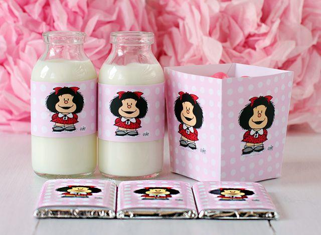 Mafalda: Free Printable Kit for Party.