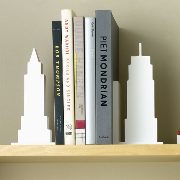 Design Ideas Skyline Bookends Set of 2 White. These bookends are a great  gift item for any traveler The Skyline Bookends are a stylish accent piece  for your ...