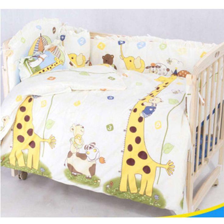 Neue nette 100*58 cm/110*60 cm 5 teile/satz förderung baumwolle baby kinder bedding set komfortable krippe stoßfänger baby organizer kinderbett kit