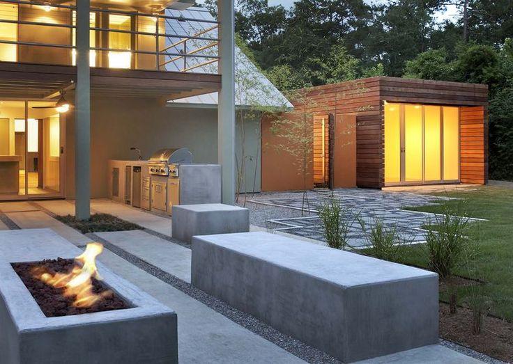 CAST-IN-SITU FIRE + BENCH SEAT