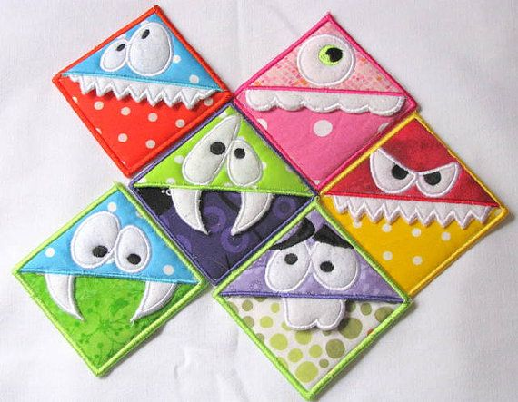 ITH Monster Corner Bookmarks - All Six - 4x4