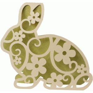 Silhouette Design Store: bunny flourish shape card