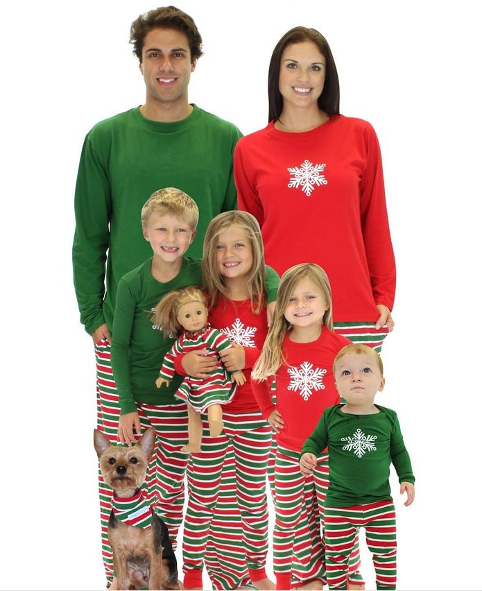 Family Look 2016 Family Christmas Pajamas For Mother & Kids Father Son Set Christmas Costume Matching Mother Daughter Clothes