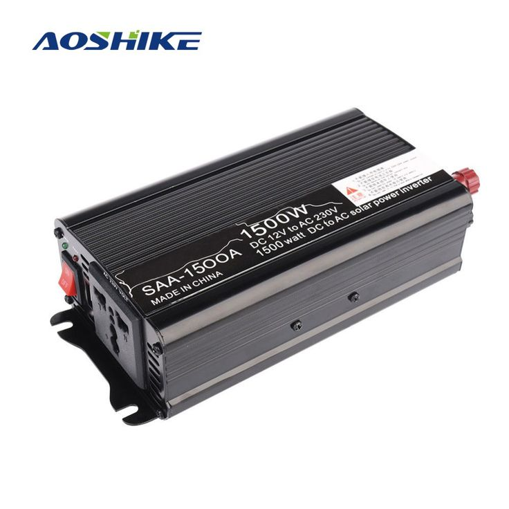On sale US $31.60  Aoshike 1500W Solar Power Car Inverter board 12V DC To 110V 220V AC Modified Sine Wave inversor Converter voltage transformer  #Aoshike #Solar #Power #Inverter #board #Modified #Sine #Wave #inversor #Converter #voltage #transformer  #BestBuy