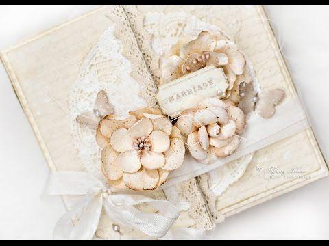 Shabby Chic Vintage Wedding Mini Album Tutorial.   YouTube