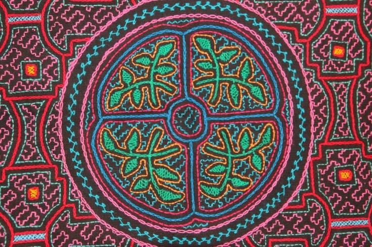 Nordlys: Small Shipibo embroidery nr. 6.