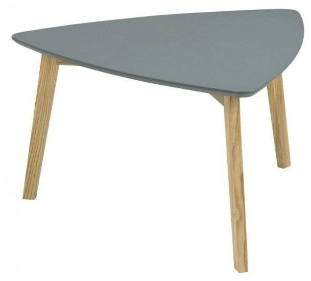 Flair stuebord - Grå - Asymmetrisk stuebord i mørk grå