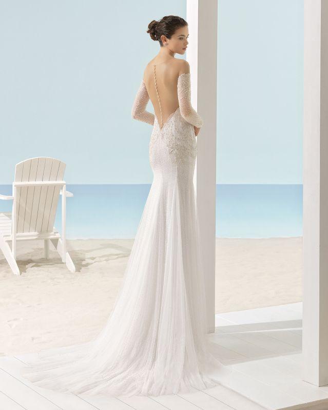 XAIL vestido de novia Aire Barcelona Beach Wedding 2017