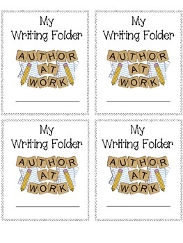 Colorful label for any writing folder!  This freebie is one of many fun labels found in my Folder Labels