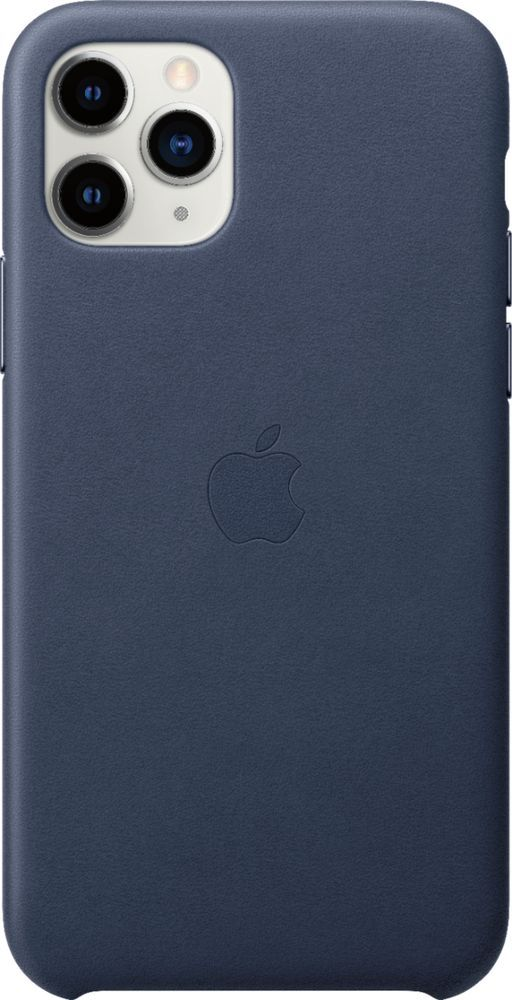 Apple Iphone 11 Pro Leather Case Midnight Blue Mwyg2zm A Best Buy Apple Leather Case Iphone Leather Case Iphone