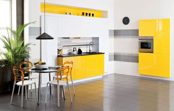 Gra kolorów w kuchni.  Paradyż, kuchnia, płytki, http://www.paradyz.com/plytki/kuchenne/login-purio-1 https://www.facebook.com/CeramikaParadyz