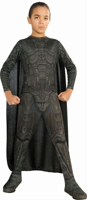 General Zod New Man of Steel Boy's Costume - This Halloween, your boy will win. He'll always win. No one on this planet will be able to challenge him, with this fantastic General Zod New Man of Steel Costume. This three-piece costume includes a jumpsuit, cape, and belt. The jumpsuit is highly detailed to closely resemble General Zod's armour. #superhero #zod #calgary #children #yyc #costume