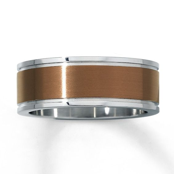 Men S Wedding Band Stainless Steel 8mm Jared In 2020 Mens Wedding Rings Mens Wedding Bands Stainless Steel Rings