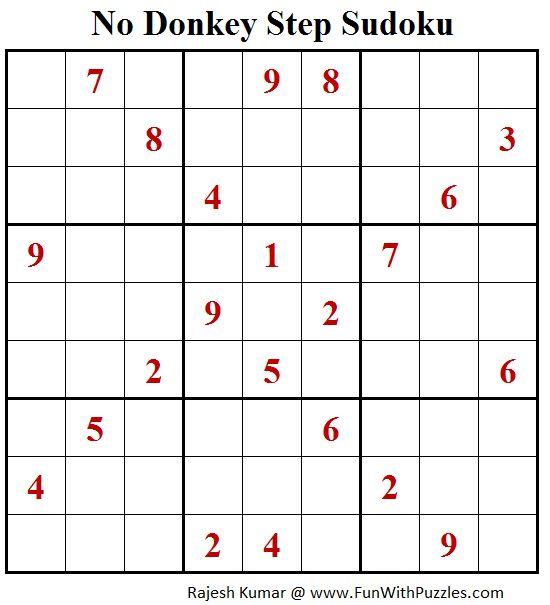 No Donkey Step Sudoku (Fun With Sudoku #182)
