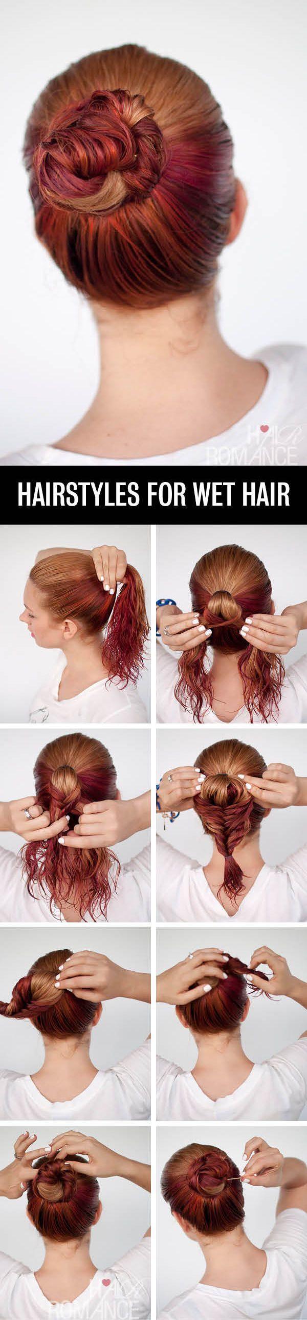 Phenomenal 1000 Ideas About Wet Hair Hairstyles On Pinterest Wet Short Hairstyles Gunalazisus