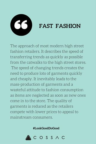 The Modern Girl's Eco Fashion Dictionary | COSSAC #ethicalfashion #sustainablefashion #fastfashion