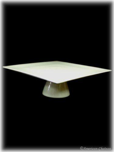 White Porcelain Square Cake Stand