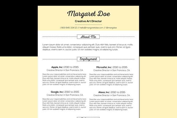 Vintage Resume & Letter Template by @Graphicsauthor