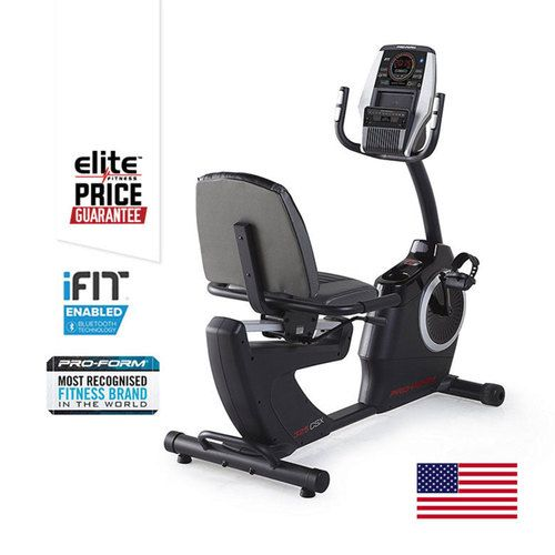 PROFORM 325 CSX RECUMBENT EXERCYCLE    Smooth Inertia Enhanced Flywheel    Easy Step Thru™ Frame Design    Oversized Cushioned Seat    SMR™ Silent Magnetic Resistance    NEW 2016 Technology: iFit® Bluetooth® Smart Enabled    22 Digital Resistance Levels    24 Preset Workout Programmes